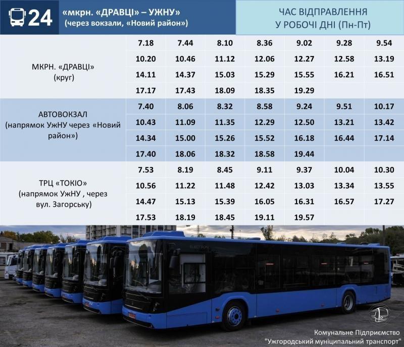 До уваги ужгородців: змінено розклад руху міських автобусів (ГРАФІК), фото-1