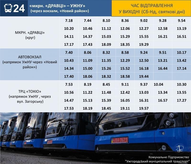 До уваги ужгородців: змінено розклад руху міських автобусів (ГРАФІК), фото-2