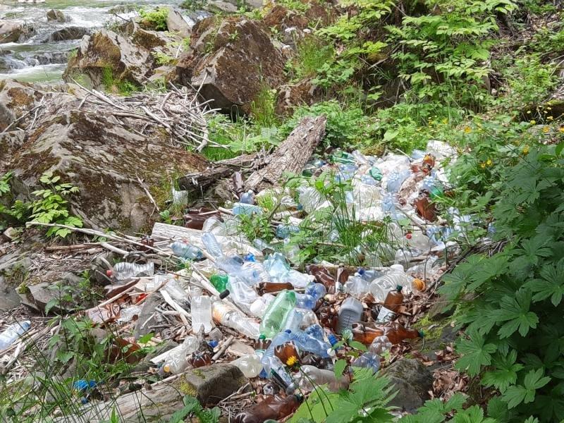 Береги ще однієї закарпатської річки всипані сміттям (ФОТО) , фото-2