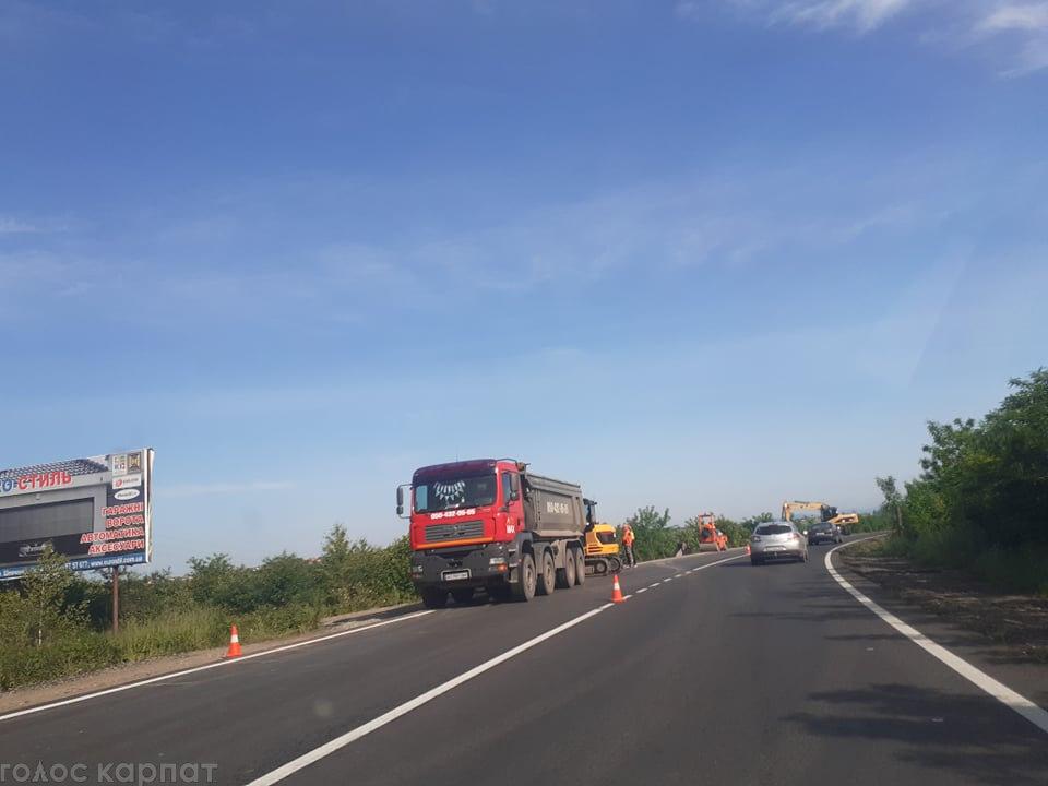 На Закарпатті на дорозі державного значення ускладнено рух (ФОТО), фото-1