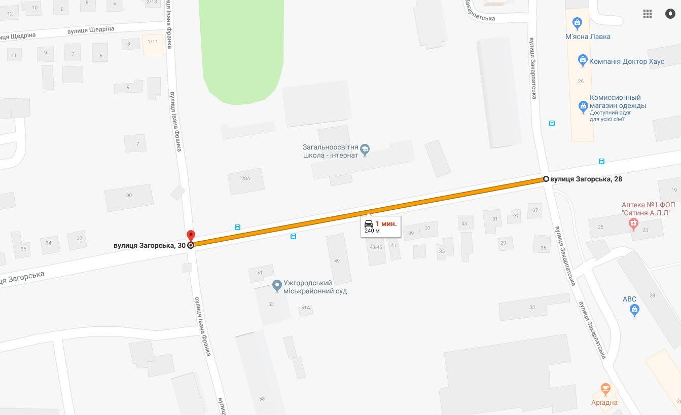 До уваги водіїв: 27 червня в Ужгороді буде частково перекрито проїзд на вул Загорська, фото-1