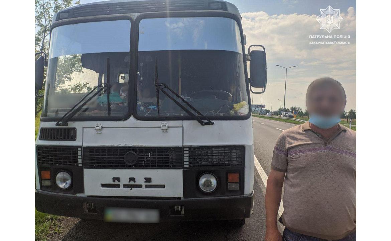На Закарпатті оштрафували водія автобуса за порушення карантину, фото-1