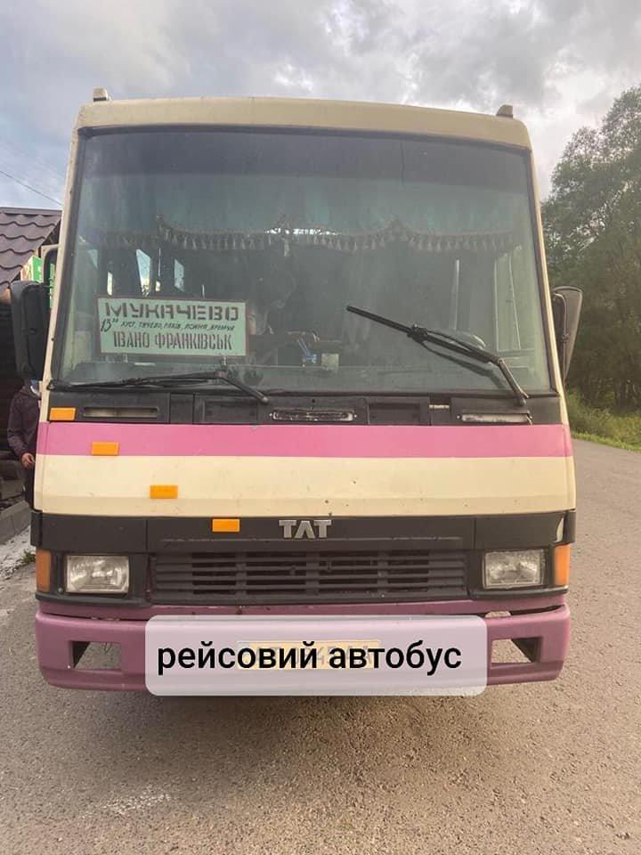 На Закарпатті оштрафували водія рейсового автобуса, який їздив попри заборону, фото-1