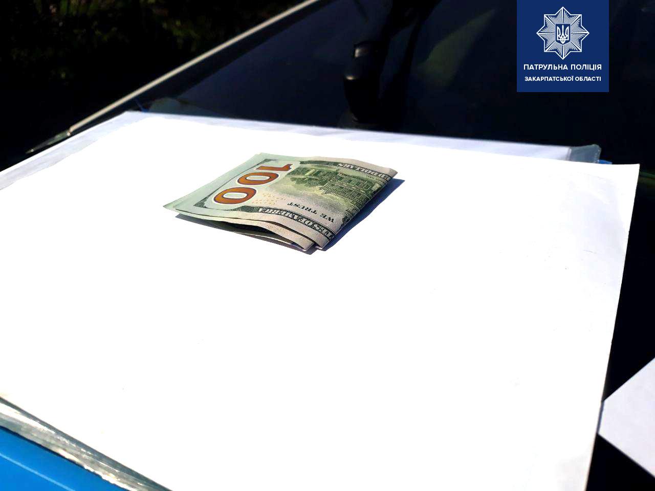 В Ужгороді п'яний водій намагався відкупитися від патрульної поліції хабарем (ФОТО), фото-3