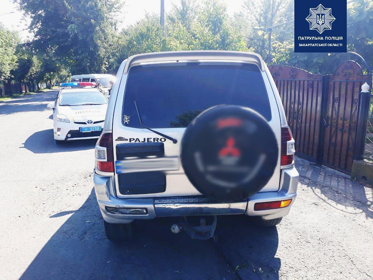 В Ужгороді п'яний водій намагався відкупитися від патрульної поліції хабарем (ФОТО), фото-2