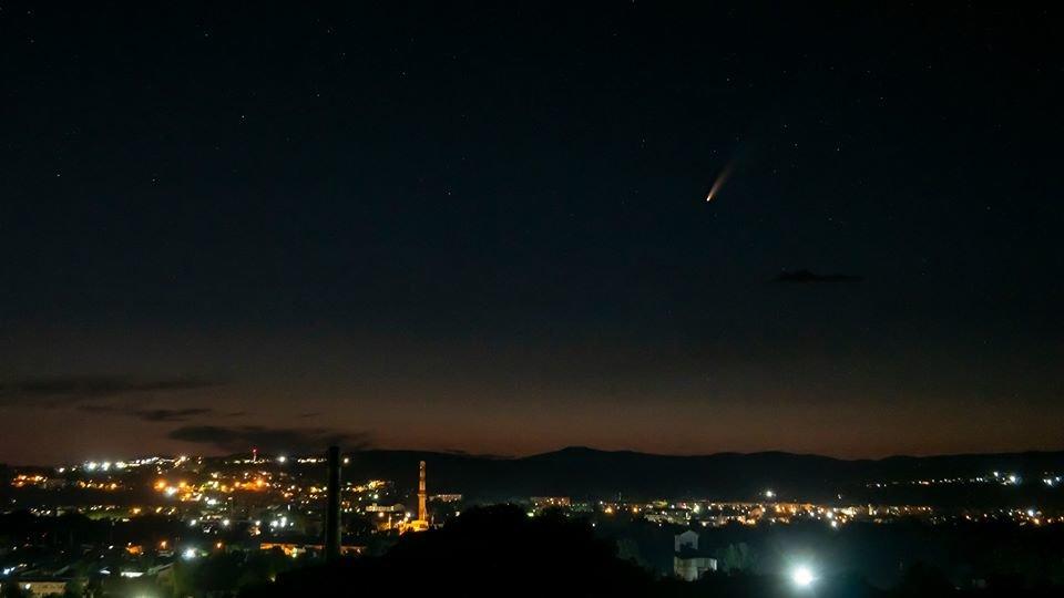 Ужгородець став свідком рідкісного польоту комети та зафіксував її на камеру (ФОТО), фото-1
