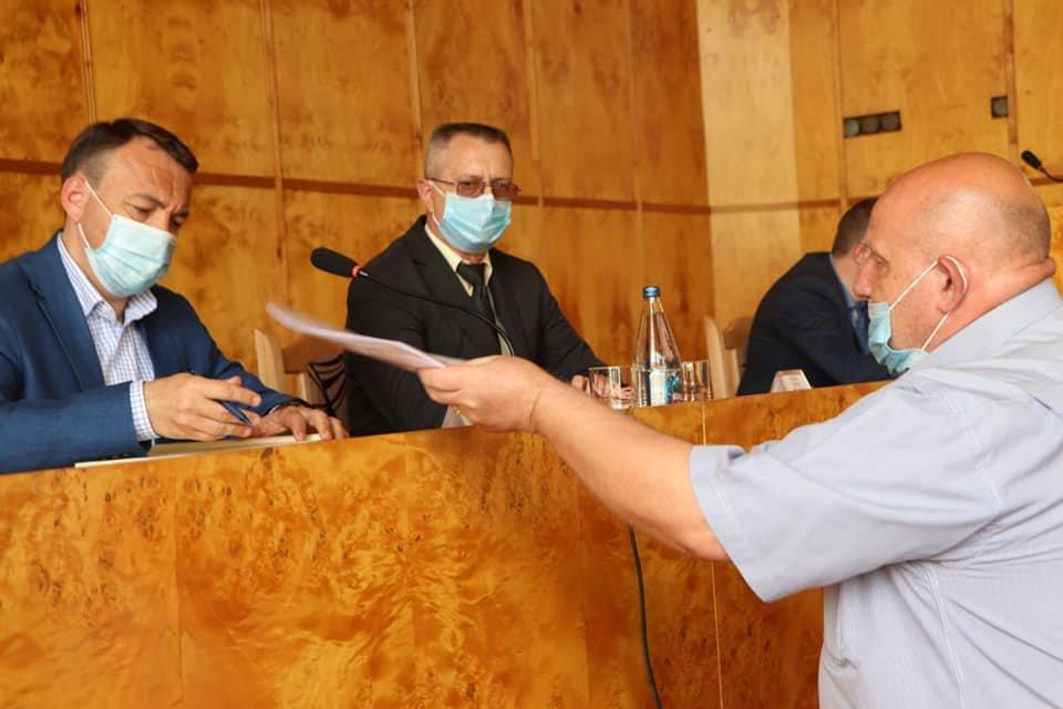 Голова Закарпатської ОДА Олексій Петров представив в.о. голови Хустської РДА, фото-2