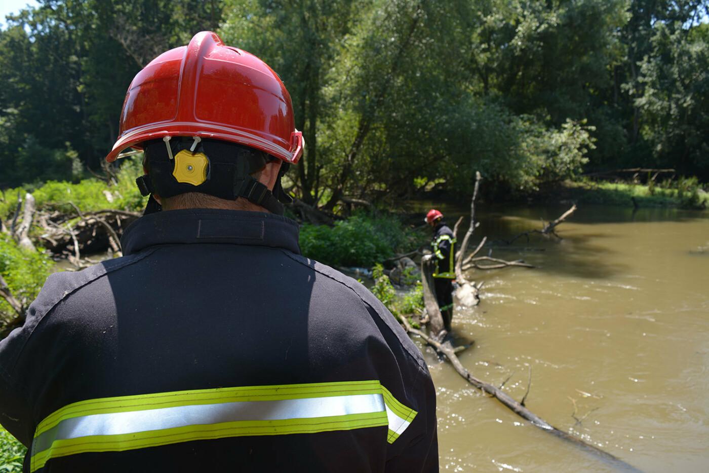 Наслідки паводків: на Закарпатті рятувальники розчищають річку Латорицю від сміттєвих заторів, фото-2