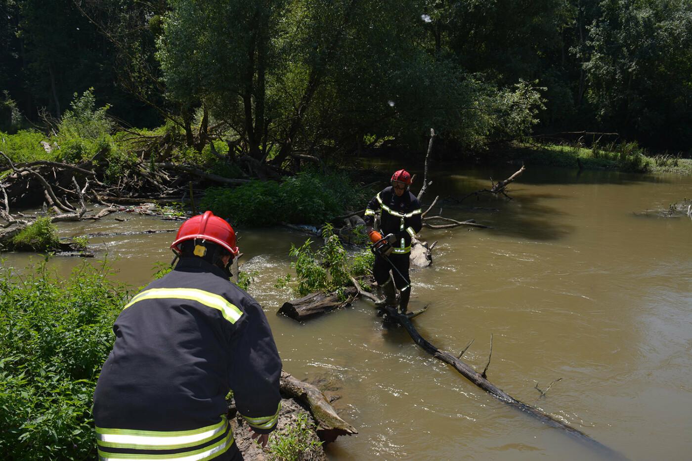 Наслідки паводків: на Закарпатті рятувальники розчищають річку Латорицю від сміттєвих заторів, фото-1