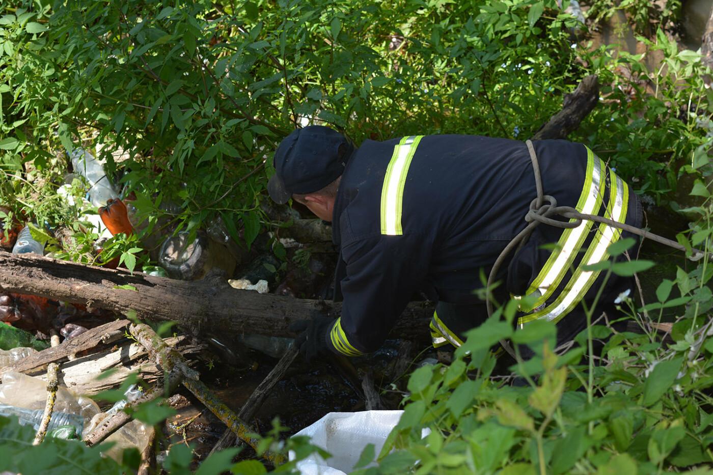 Наслідки паводків: на Закарпатті рятувальники розчищають річку Латорицю від сміттєвих заторів, фото-4