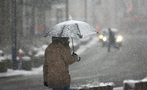 На Закарпатті в горах йде мокрий сніг , фото-2