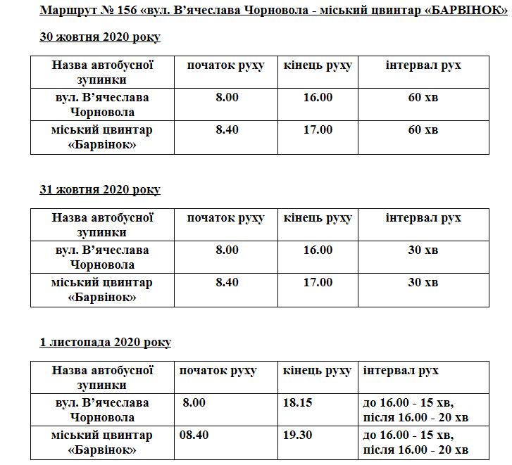 """День пам'яті: в Ужгороді збільшено кількість автобусів до """"Барвінка"""" (РОЗКЛАД), фото-4"""