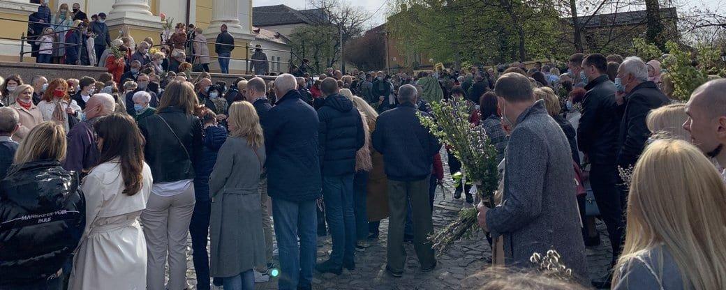 Вербну неділю святкують віряни східного обряду в Ужгороді, фото-2